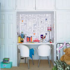 Creative use of a little-used closet makes for a handy homework alcove. | Photo: IPC | thisoldhouse.com