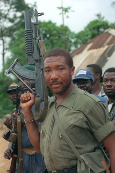 Charles McArthur Ghankay Taylor (B: is a former Liberian politician who was the President of Liberia, serving from - until his resignation. Sierra Leone Civil War, Uganda, War Photography, Military Photos, Military History, African Countries, East Africa, Liberia Africa, World History