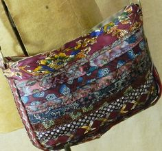 Layered ties Shoulder Bag - I like this, made from the skinny ends of men's ties
