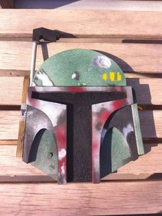 Build a Star Wars Boba Fett plywood wall plaque