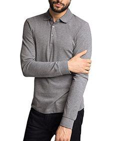 ESPRIT Herren Poloshirt Gr. Größe L, Grau - Medium Grey
