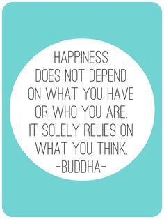 adjust your mind. you adjust your life