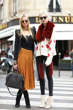 Camel and Black - Always my favorite!!! Paris Street Style - 2012 Haute Couture Parisian Street Style - Harper's BAZAAR