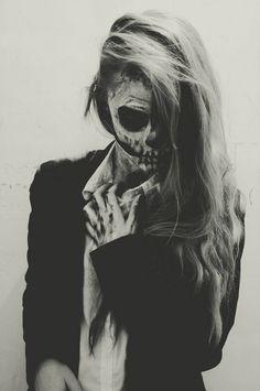 super chic skull look for halloween