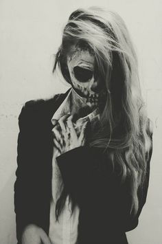 super chic skull look for halloween