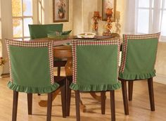 Red & Green Plaid Chair Back Covers