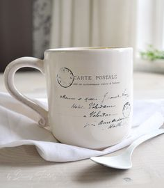 DIY 5 minute decal transfer on a coffee mug - learn how to quickly decorate your coffee mugs with your favorite images and make your mornings more chic and beautiful
