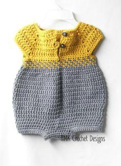 Crochet Baby Romper.