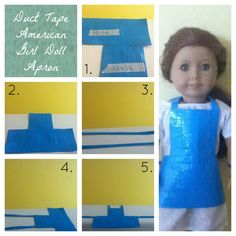 Duct Tape American Girl Doll Apron!