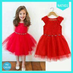 Dress Anak Red Merry Christmas Diamond Terlaris