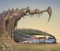 Dragon's pleasure - Jacek Yerka