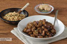 Receta saludable de berenjena al miso con arroz integral. Con fotos paso a paso, consejos y sugerencias de degustación. Receta vegetariana. Receta...