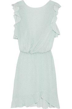 L'AGENCE Wrap-effect printed silk-crepe mini dress. #lagence #cloth #dress