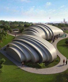 The Pod Pavilion, Manfredi Nicoletti, world architecture news, architecture jobs