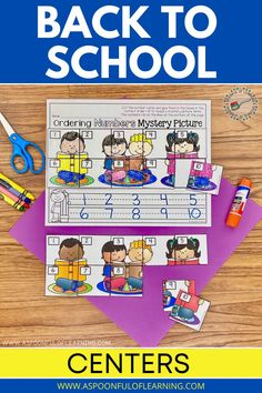 Do you practice number order activities at the beginning of the year? This back to school number order activity has students practicing putting numbers in the correct order to reveal a mystery picture! What is so great about number order activities is that students are practicing number identification, counting, and number order at once. There are multiple pictures for numbers 1-5 and numbers 1-10 included as well as other number order activities! A recording sheet is included for each activity.