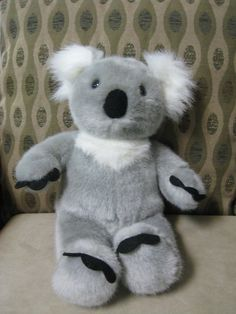 "Adorable BUILD A BEAR KOALA BEAR 14-1/2"" Excellent, Clean & Original Owner CUTE #BuildaBear"