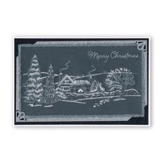 by Chris Walker - Parchment craft Christmas Scenes, Christmas Photos, Christmas Crafts, Snow Scenes, Winter Scenes, Embossing Tool, Parchment Cards, Homemade Christmas Cards, Clever Design
