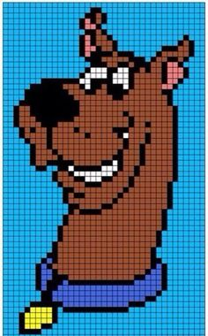 Super Ideas knitting charts disney scooby doo Super Ideas knitting charts disney scooby doo Always wanted to discover ways to knit, but not sure where t Perler Patterns, Loom Patterns, Beading Patterns, Crochet Patterns, Knitting Patterns, Loom Beading, Knitting Ideas, Bracelet Patterns, Graph Crochet
