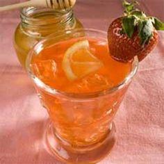 Розовый Медовый Лимонад с Клубникой