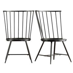 A modern twist on a timeless design, the HumbleNest Homestead High Back Windsor Dining Side Chair - Set of 2 can look at home in a wide range of. High Back Dining Chairs, Contemporary Dining Chairs, Solid Wood Dining Chairs, Metal Chairs, Upholstered Dining Chairs, Dining Chair Set, Modern Chairs, Side Chairs, Dining Tables
