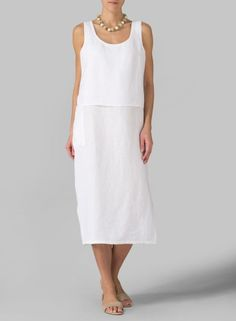 Linen Double Layer Dress