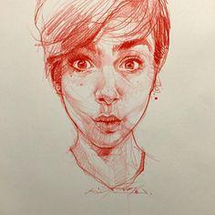 Artist: Alvin Chong Quick sketch @lilyjcollins