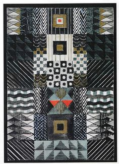 Another Gunta Stölzl mixed media layout of a design for a Jacquard wall hanging - 1927. I think I love her.