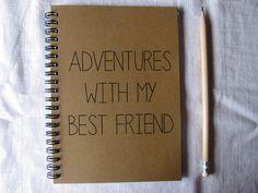 Adventures with my Best Friend 5 x 7 journal by JournalingJane, $6.00
