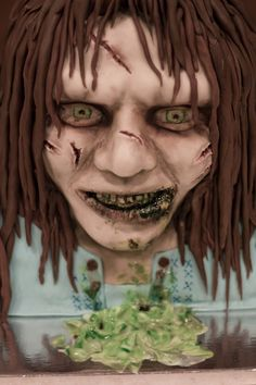 Exorcist cake.  this scares me.  i might need therapy after seeng this cake. By COTB on Cakecentral.com