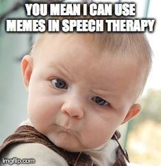 Memes are hilarious so why not bring those laughs into the speech room.  This post tells you how to make your own memes and use them effectively in therapy.
