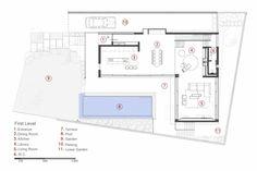 Haus mit mediterranen und Teak Akzenten - Der Grundriss des Wohnbereichs