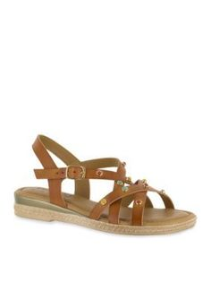 TUSCANY by easy street Natural Renata Sandal