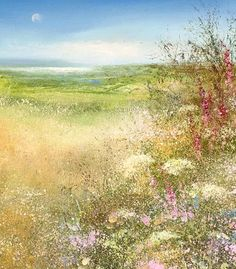 Beside the wave - Amanda Hoskin Watercolor Landscape, Landscape Art, Landscape Paintings, Watercolour, Nature Paintings, Beautiful Paintings, Letter Art Design, Impressionist Art, Impressionism