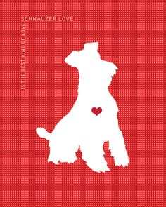 Schnauzer Love is the Best Kind of Love : Dog Silhouette Art Miniature Schnauzer Puppies, Schnauzer Puppy, Schnauzer Grooming, Schnauzers, Perro Fox Terrier, I Love Dogs, Cute Dogs, Most Popular Dog Breeds, Dog Silhouette