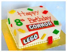 (22) complete - fondant LEGO cake decorations