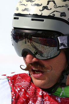 Filip Flisar of Slovenia looks on during the Freestyle Skiing Men's Ski Cross Finals (c) Getty Images (Movember Camp) Freestyle Skiing, Mens Skis, Winter Olympics, Slovenia, Oakley Sunglasses, The Past, That Look, Movember, Finals