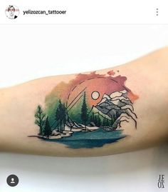 tatattoo on We Heart It - http://weheartit.com/entry/269388161 Beautiful Nature and Mountain Tattoo by @yelizozcan_tattooer /Seventh Circle | WHI
