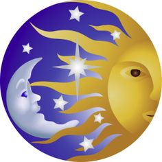 Sun Moon And Stars clip art
