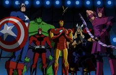 The Avengers Earth's Mightiest Heroes...this and Young Justice