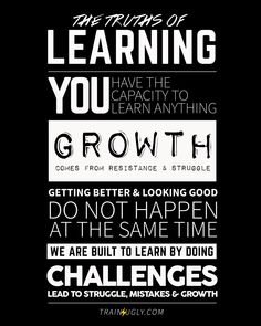 Truths of Learning Train Ugly Ugly Quotes, Personal Development Coach, Genius Hour, Motivation Goals, Growth Mindset, Being Ugly, Train, Teaching, Thoughts
