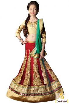 Stylish Indian little kids special latest beige red lycra ethnic wear baby girls lehenga choli online with cash on delivery. Get zardoshi work, embroidery work trendy ghagra choli for small girls in low cost.#lehenga choli, #girllehenga choli more: http://www.pavitraa.in/store/kids-lahenga/