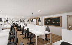 Open space office in Dnepropetrovsk - Дизайн интерьеров Circle Line