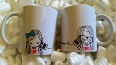 Hey, I found this really awesome Etsy listing at https://www.etsy.com/listing/240639049/best-friend-long-distance-coffee-mug-set