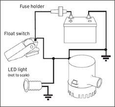 bilge pump wiring allows indicator light to shine on