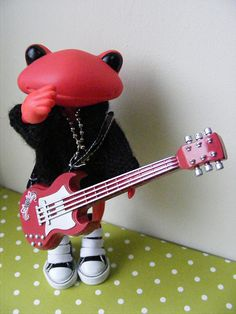 Wanda the wonder frog dolls. Check out my fancy fingerwork on the guitar! by shortstuff411, via Flickr