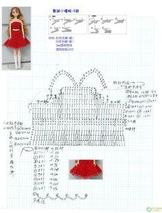 Barbie Knitting Patterns, Barbie Patterns, Doll Clothes Patterns, Amigurumi Patterns, Crochet Patterns, Crochet Doll Dress, Crochet Barbie Clothes, Small Crochet Gifts, Habit Barbie