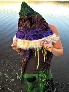 Pixie Hood Elf Hoodie Full Interstellar by IntergalacticApparel, $168.00