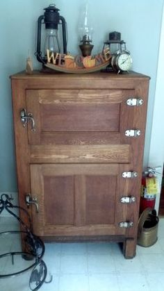 Antique Polar Bear Oak Ice Box Sold In The Shop Now Pinterest Polar Bear