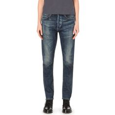 CITIZENS OF HUMANITY Corey boyfriend-fit low-rise jeans ($415) ❤ liked on Polyvore featuring jeans, gage, ripped boyfriend jeans, slim fit boyfriend jeans, ripped jeans, torn boyfriend jeans and distressed jeans