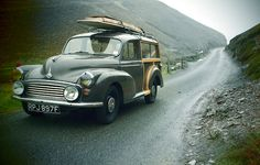 Woody morris minor traveller. surfs up, classic cars, wheel, woodi, automobil, wagon, morri minor, vintage travel, old cars